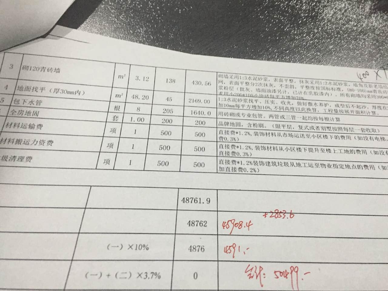 海赋江城报价审核结果6