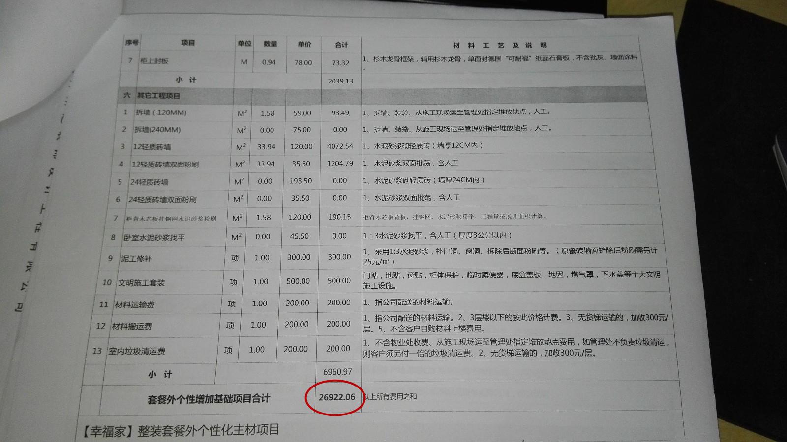 王家湾中央生活区报价审核结果3