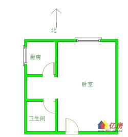 钟家村汉商银座双地铁口一室好楼层拎包入住商圈成熟学区房对口钟家村小学