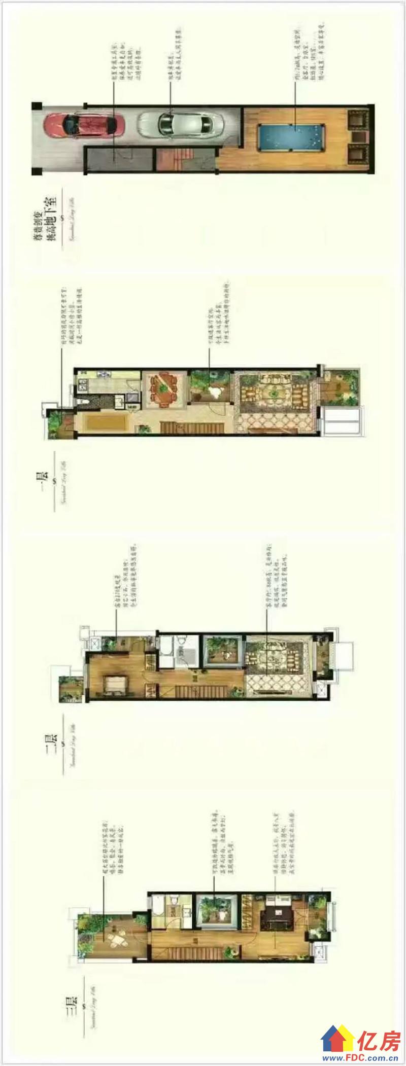 绿地4室189平联排别墅 送双车位花园地下室,武汉汉阳区汉阳周边汉阳区江城大道与四新大道交汇处前行800米二手房4室 - 亿房网
