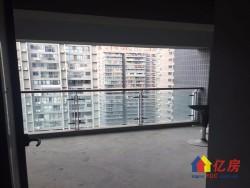 江汉路步行街地铁口星巴克旁宝利金中央荣御纯毛坯复式楼带阳台