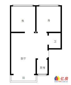 高雄路 宝岛公寓 观湖两房 南北通透 可改三房 看房方便