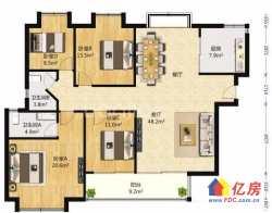 金色华府 对口育才小学 4室2厅2卫  158㎡ 优质房源 新鲜上架