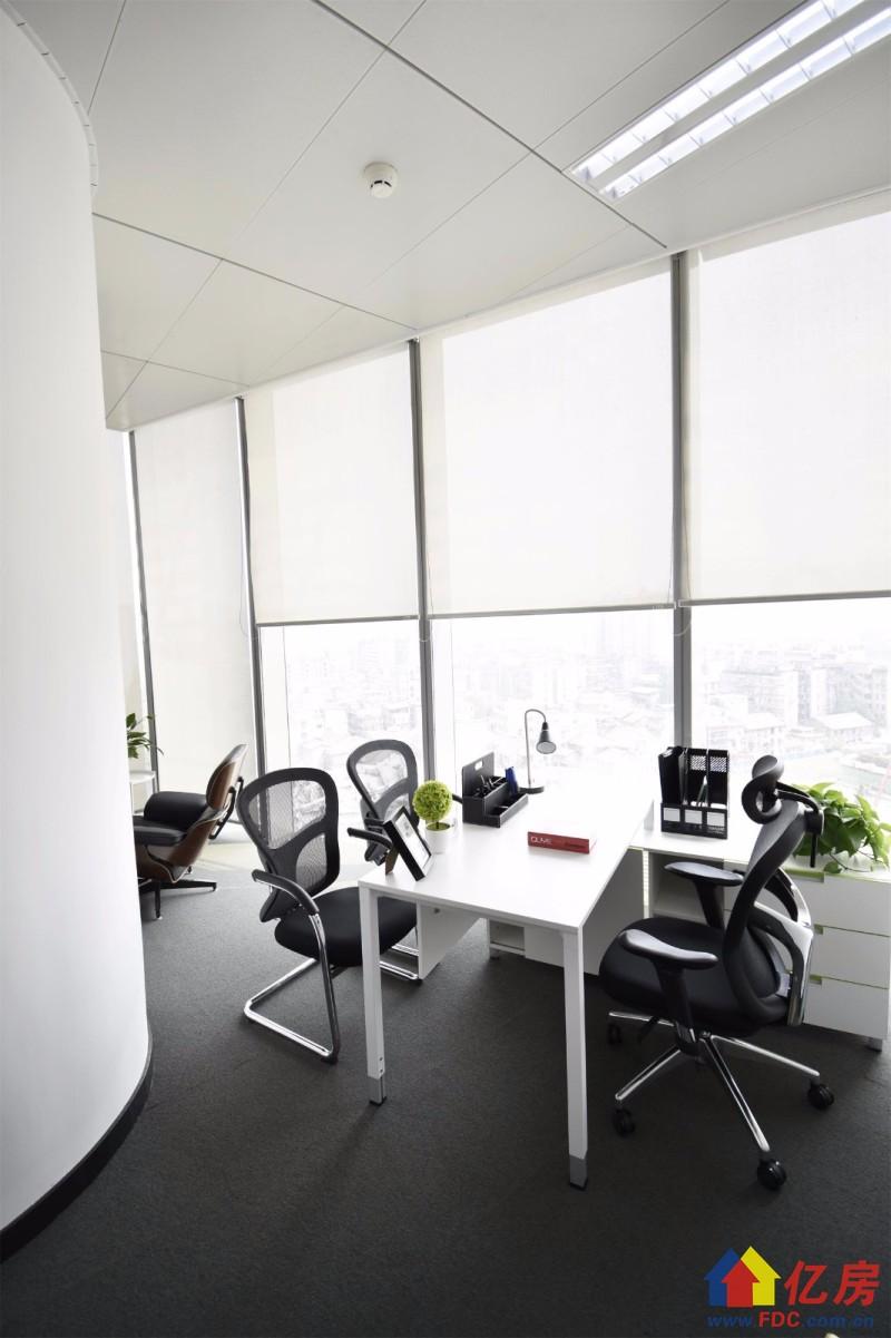 可快速注册公司,越秀财富中心出租精装小型办公室,武汉硚口区宝丰越秀财富中心8楼二手房 - 亿房网