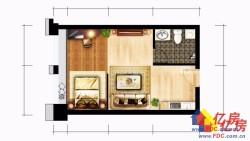 黄陂区横店新城中部国际物联港35㎡单身公寓28W可得