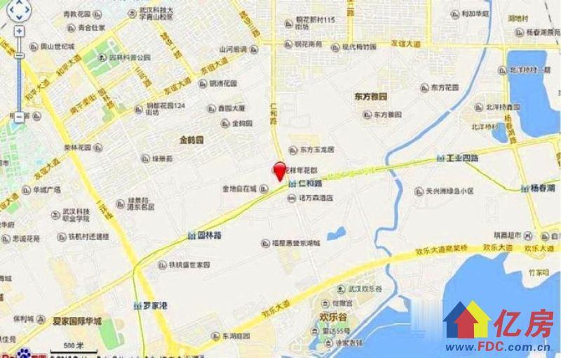 武汉洪山区仁和路武汉市洪山区团结大道地铁4号线仁和路出口处(欢乐谷