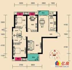 汉阳区 王家湾 锦绣汉江 2室2厅1卫  93.6㎡