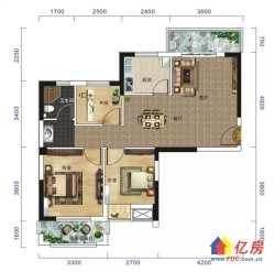江岸区 后湖 城开二七城市广场 3室2厅1卫  88.18㎡