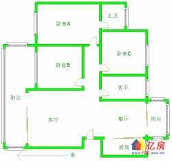 现代城  电梯3房3阳台  好晾晒  一家三代同堂住的才舒服  重点是无税