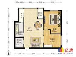 2012年小区 三金华都 婚房精装修两居室 高楼层视野好 证