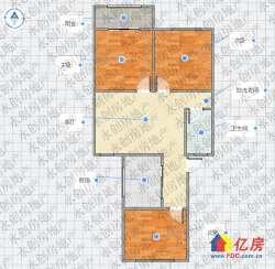 看中都好谈 香港路6号线 西马新村 4楼 朝南板式三居室 老证出售