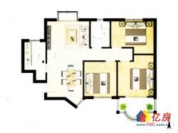 汉口城市广场精装婚房87平3房 电梯通透看房有匙