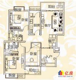不xian购 湖墅观止 精装婚房3居 南北双阳台 126万
