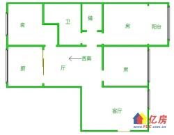 青少年宫台北四村精装修三房一厅南北通透格局方正随时看房