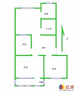 对口水一小 洪山路39号 精装2室2厅  黄金3楼   满五唯一 随时看房