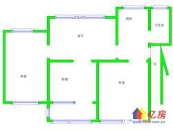 武昌区 水果湖 水果湖张家湾小区 3室1厅1卫 81㎡