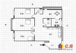 水果湖 放鹰台社区53号 中间楼层 三室两厅两卫 对口水二小南北通透   看房方便