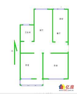 武昌区 水果湖 水果湖国防办宿舍 2室2厅1卫  87㎡