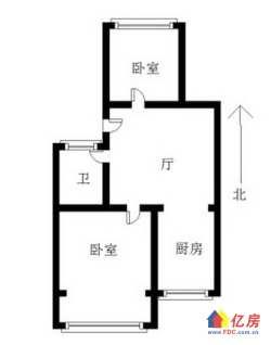 新3506宿舍南北2房,4楼,房龄新环境好,邻十一中同济
