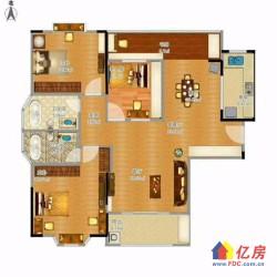 汉阳区 墨水湖 招商公园1872 3室2厅2卫  124㎡