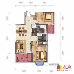 汉阳区 墨水湖 招商公园1872 2室2厅1卫  84㎡