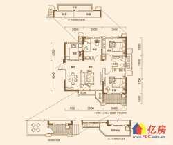 东湖高新区 大学科技园 丽岛美生 2室2厅1卫  89㎡