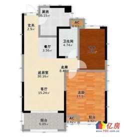 汉阳区 四新 绿地中央广场 2室2厅1卫  85㎡137万首付55万以内 有钥匙看房