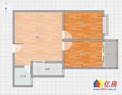 宝康苑 十一中 同济对面 2室1厅带阳台 卫生间有窗户老证