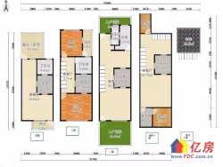汉阳区 四新 绿地新都会 5室3厅4卫  131㎡联排别墅使用面积超过300公三层 送花园和独立车库