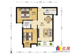 王家湾 纽宾凯汉city都会中 心繁华里 83.56㎡ 2室1厅 159万