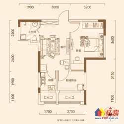 东湖高新区 大学科技园 丽岛美生 2室1厅1卫  59㎡