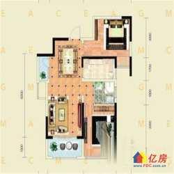 千禧城朝南两房出售,房型方正,送生活阳台,看房有钥匙,轻轨旁