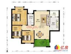 东西湖区 金银湖 武汉恒大城 3室2厅1卫  93㎡ 电梯小高层 中间楼层 送入户花园