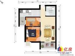 光谷南金融港藏龙岛保利清能西海岸旁小两居室低于市场价