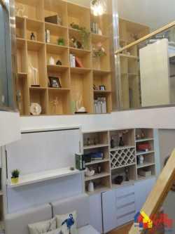 加推啦+宏图大道三轨交汇繁华地段近地铁复式公寓带天然气可做两房