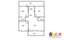 海虹景+豪装三房+全房暖气片+明厨明卫+有钥匙前后院子60平