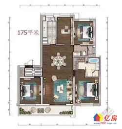 武昌区 徐家棚 绿地国际金融城 3室2厅3卫 176m²