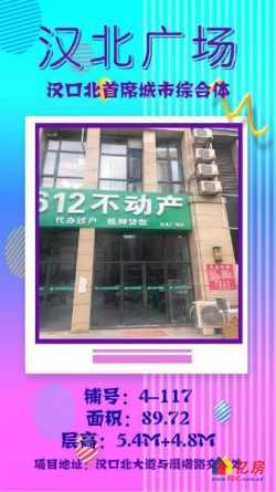 黄陂汉北广场临街现铺即买即收益月收租2.4万