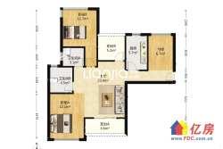 广电兰亭时代南北通透三居室,满两年,看房方便、