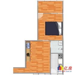江岸区  育才三村南北通透型小    2室1厅1卫  45㎡