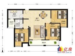 梧桐苑居家大三房,户型方正,总价低,业主诚心出售