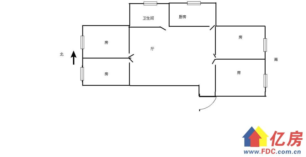 发展大道旁,五洲大厦精装四室两厅,全套家具采光好,随时看房!,武汉江岸区花桥竹叶山发展大道409号二手房4室 - 亿房网