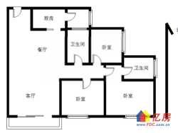 急售美 联毛坯房,三房两厅两卫,中间楼层,无遮挡