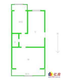 黄陂街小雪对面信泰公寓两证已满2年正规1房1厅朝南电梯好房出