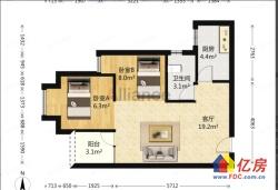 美联时光里 新小区好楼层超值64.1㎡两房便宜出售,随时看房