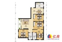 东西湖区 金银湖 金湖天地 4室2厅2卫  127㎡         赠送一个房间