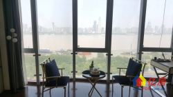 全景落地窗享受一线江景 视野开阔 滨江商务区总裁公寓 不限购