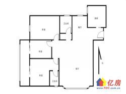 常青花园十四小区 3室2厅2卫  128㎡送超大花园