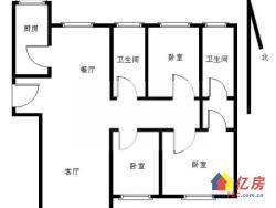 升华现代城 地铁口 旁 三房两厅两卫 去年才装修的房子