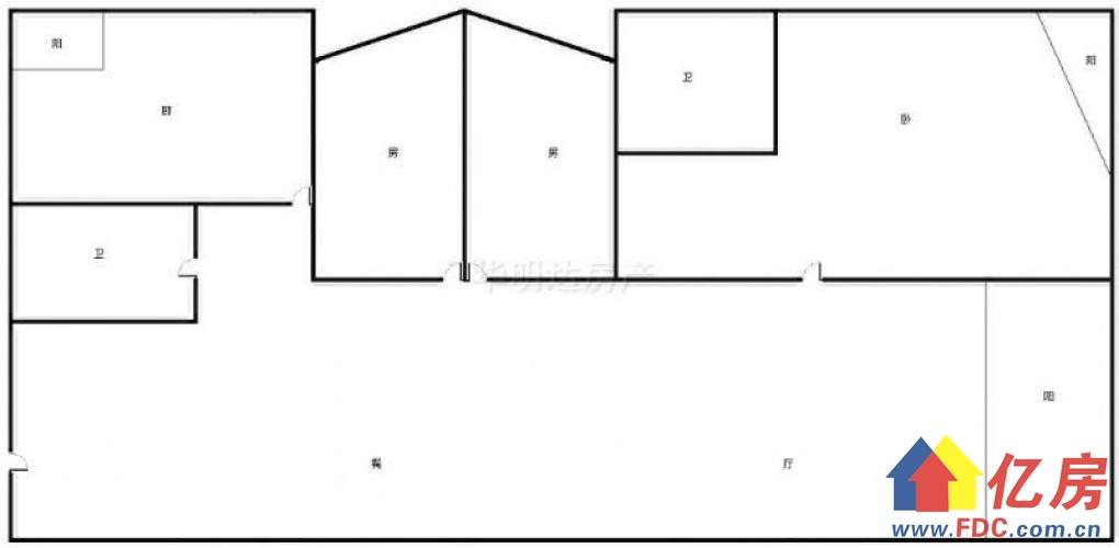 口口口台北教师公寓 南北向 精装3室2厅2卫 带阳台 有钥匙,武汉江汉区新华台北一路中侨观邸与环亚艺术家之间二手房3室 - 亿房网